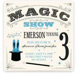 Magic Show Children's Birthday Party Invitations
