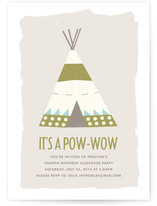 Pow Wow Children's Birthday Party Invitations