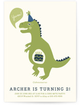 Cakeasaurus Dinosaur Kids Party Invitations