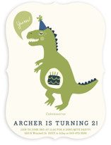 Cakeasaurus Dinosaur Children's Birthday Party Invitations