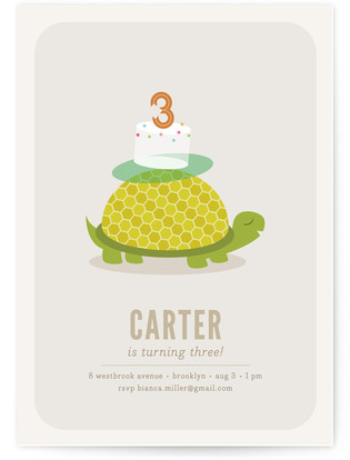 Slow Steady Children's Birthday Party Invitations