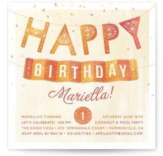 Fiesta Children's Birthday Party Invitations