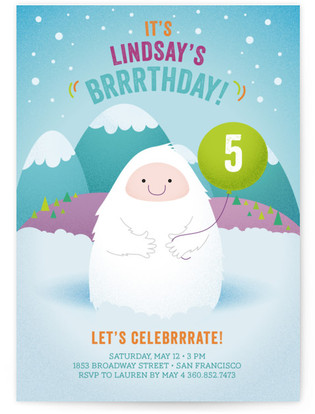 Brrrthday Princess Children's Birthday Party Invitations