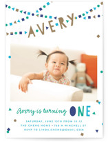 Festive Bunting Children's Birthday Party Invitations