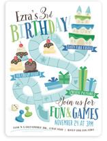 Fun & Games Children's Birthday Party Invitations