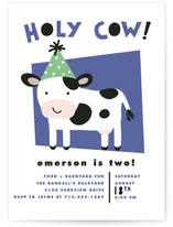 Holy Cow Children's Birthday Party Invitations