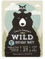 Into The Wild Children's Birthday Party Invitations