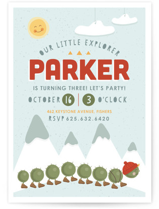 Little Explorer Children's Birthday Party Invitations