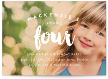 Modern Birthday Children's Birthday Party Invitations