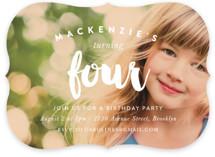 Modern Birthday Children's Birthday Party Invitations