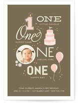 One Happy Day Children's Birthday Party Invitations