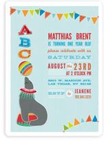 Circus Seal Children's Birthday Party Invitations