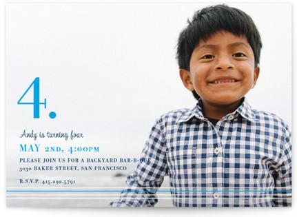 Nostalgia Children's Birthday Party Invitations
