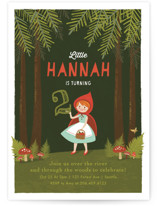 Through The Woods Kids Party Invitations