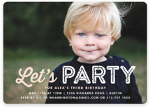 Just Be Children's Birthday Party Invitations