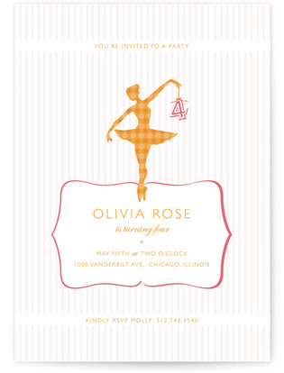 Ballet Children's Birthday Party Invitations