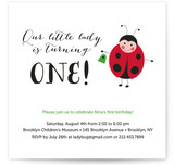 Little Ladybug Kids Party Invitations