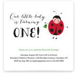 Little Ladybug Children's Birthday Party Invitations