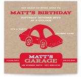 Cars Children's Birthday Party Invitations