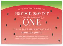 Watermelon Kids Party Invitations