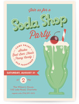 Soda Shop Party Kids Party Invitations