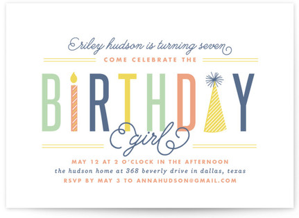 The Birthday Kid Children's Birthday Party Invitations