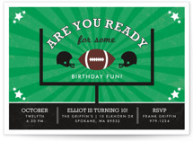 Go Team Children's Birthday Party Invitations