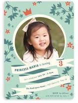 Princess Crown Children's Birthday Party Invitations