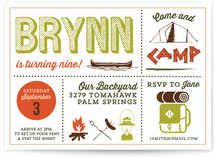 Happy Camper Children's Birthday Party Invitations