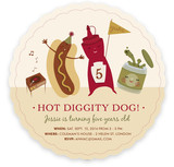Hot Dog! Children's Birthday Party Invitations