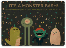 Monstrous Fun Monster Bash Children's Birthday Party Invitations