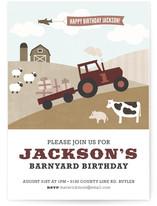 Barnyard Bash Children's Birthday Party Invitations