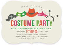 Costume Party Children's Birthday Party Invitations
