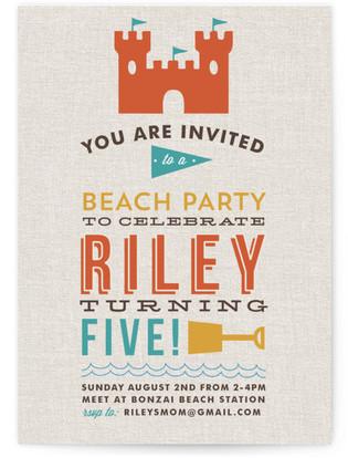 Beach Bash Children's Birthday Party Invitations