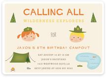 Adventure Awaits Children's Birthday Party Invitations
