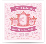 Crown Swirls Children's Birthday Party Invitations