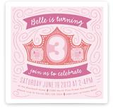 Crown Swirls Children's Birthday Party Invitations
