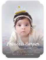 Princess Crown Doodle Kids Party Invitations