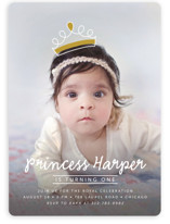 Princess Crown Doodle Children's Birthday Party Invitations