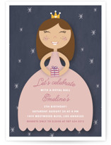 Royal Ball Children's Birthday Party Invitations