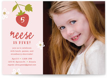 Strawberry Shortcake Children's Birthday Party Invitations