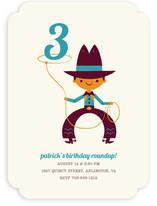 Lasso Cowboy Children's Birthday Party Invitations