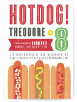 HOTDOG! Children's Birthday Party Invitations