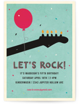 Rock On Kids Party Invitations