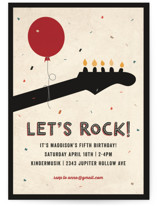 Rock On Children's Birthday Party Invitations
