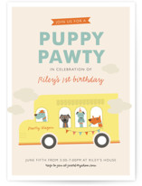 Puppy Pawty Children's Birthday Party Invitations