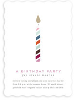 Lit Candle Kids Party Invitations