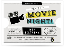 Super Fun Movie Night! Kids Party Invitations