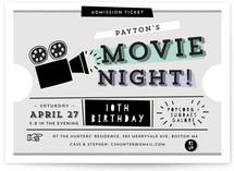 Super Fun Movie Night! Children's Birthday Party Invitations