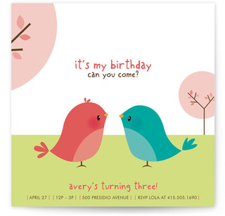 Happy Birdie to you Children's Birthday Party Invitations